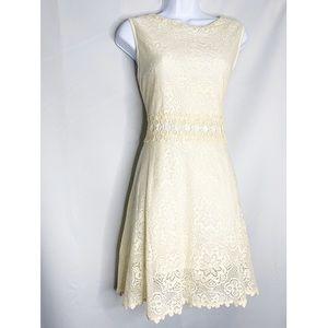 New altar'd state cream lace crochet dress L